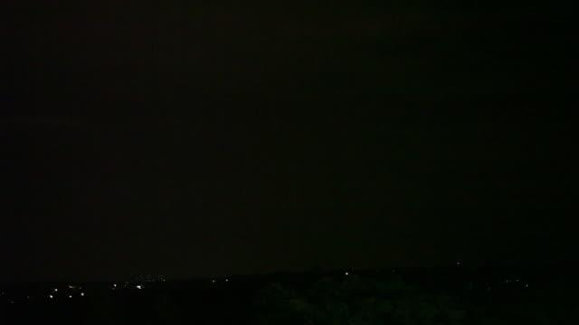 lightning storm over sandton cbd, johannesburg, south africa - south africa stock videos & royalty-free footage