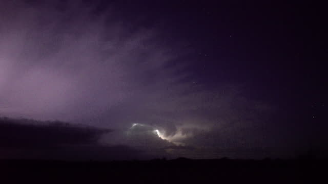 lightning storm surrounded by stars - scott mcpartland stock videos and b-roll footage