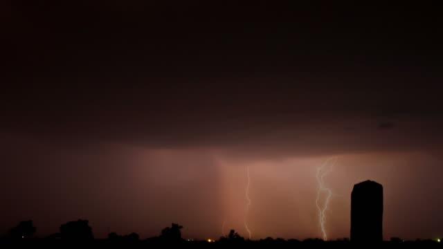 stockvideo's en b-roll-footage met lightning storm - zigzagbliksem