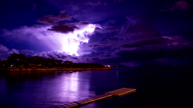 lightning storm - thunderstorm stock videos and b-roll footage