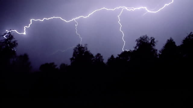 lightning storm - accidents and disasters stock videos and b-roll footage