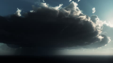 lightning storm with horizontal strike - lightning stock videos & royalty-free footage