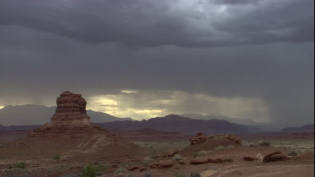 lightning strikes during a desert thunderstorm. available in hd. - thunderstorm stock videos & royalty-free footage