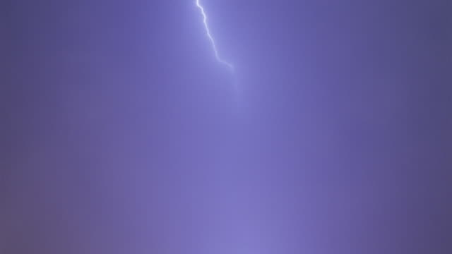 Lightning through thin haze