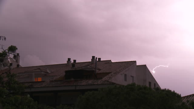 lightning - roof tile stock videos & royalty-free footage