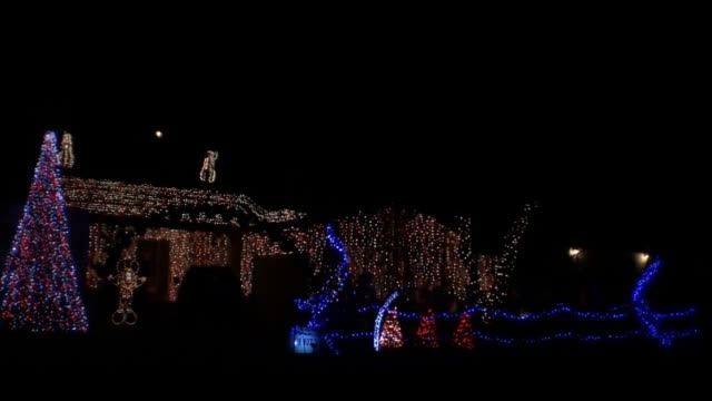 light-o-rama channels and 1200 rgb nodes were used to create this incredible christmas light show in granada hills, california, set to disney's 'the... - disney stock videos & royalty-free footage