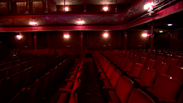 lights illuminate the auditorium of thornton's new music hall, leeds. available in hd. - auditorium stock videos and b-roll footage