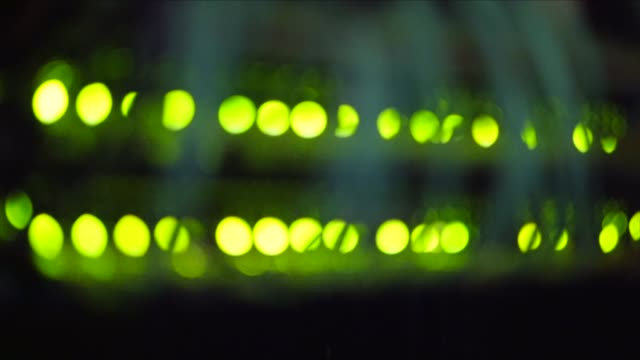 led lights in a computer server room - 発光ダイオード点の映像素材/bロール