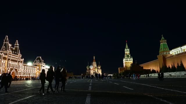 lights of iconic building at red square were turned off to support the traditional international environmental action earth hour in moscow russia on... - earth hour stock videos & royalty-free footage