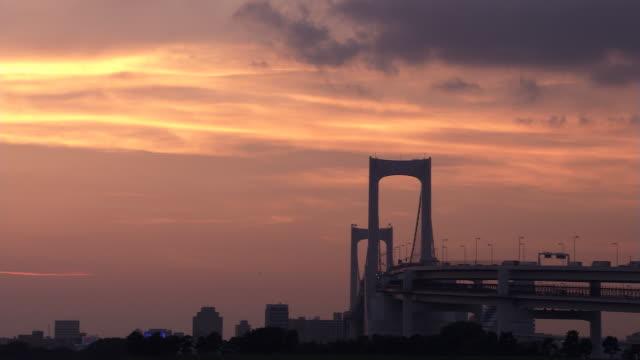 lights on the rainbow bridge - artbeats stock videos & royalty-free footage