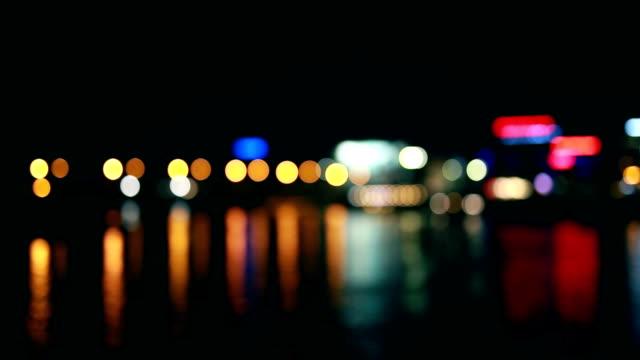 vídeos de stock, filmes e b-roll de luzes, reflexo, rio, noite - reflection