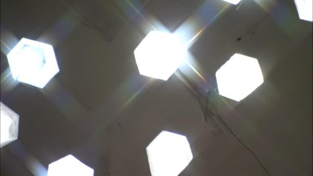 lights shines through decorative windows at the topkapi palace. - topkapi palace stock videos and b-roll footage