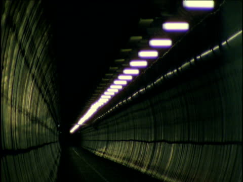 Lights switch off in service tunnel Channel Tunnel UK