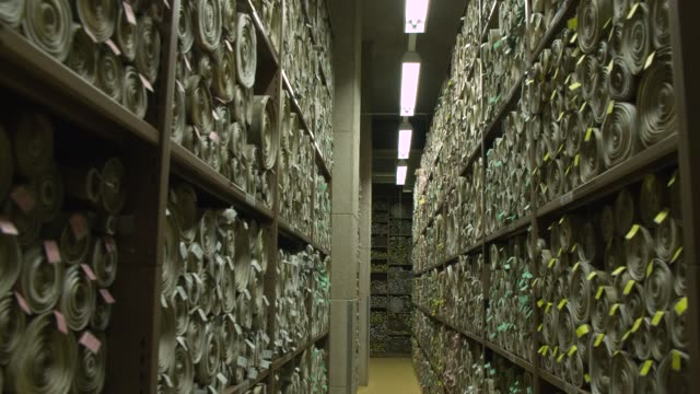ws lights turn on in room storing scrolls - document stock videos & royalty-free footage