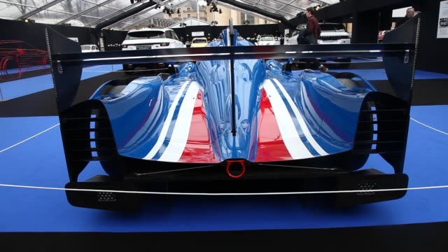 A Ligier racing car by France based Ligier Automotive is displayed at the ConceptCars and Automobile Design exhibition in Paris on February 1 2019