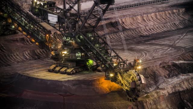 lignite open cast mining in germany - open cast mine stock videos & royalty-free footage