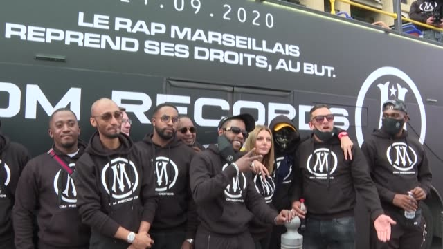 stockvideo's en b-roll-footage met ligue 1 club marseille make a historic move into the music industry by launching a rap record label alongside music industry titan bmg - clean