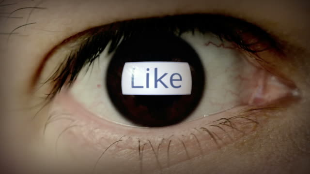 like button in eye - eyeball stock videos and b-roll footage