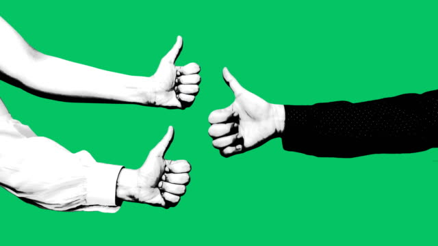 緑色の画面のような手 - 親指を立てる点の映像素材/bロール