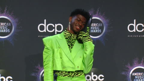 lil nas x at the 2019 american music awards at microsoft theater on november 24, 2019 in los angeles, california. - american music awards stock videos & royalty-free footage