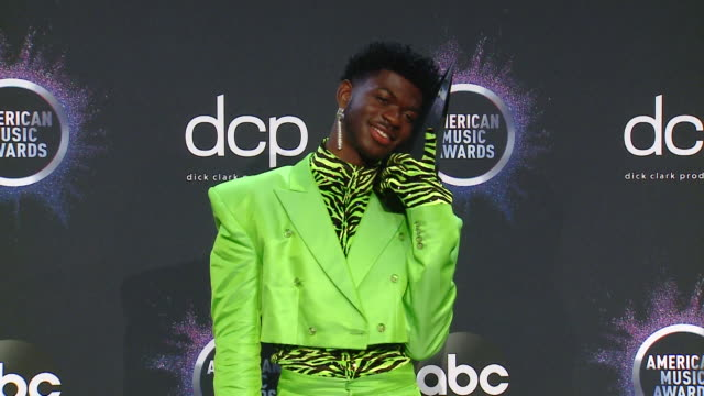 lil nas x at the 2019 american music awards at microsoft theater on november 24 2019 in los angeles california - american music awards stock videos & royalty-free footage