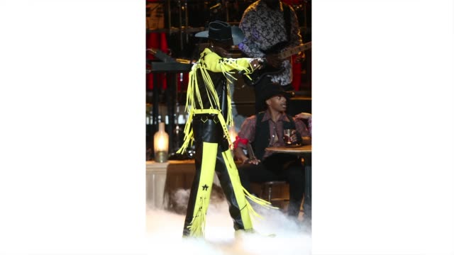 lil nas x performs onstage at the 2019 bet awards at microsoft theater on june 23, 2019 in los angeles, california. <<enter caption here>> on june... - bet awards bildbanksvideor och videomaterial från bakom kulisserna