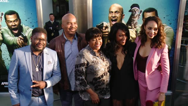 vídeos y material grabado en eventos de stock de lil rel howery david alan grier tiffany haddish amber stevens west and loretta devine at keanu los angeles premiere at arclight cinemas cinerama dome... - cinerama dome hollywood