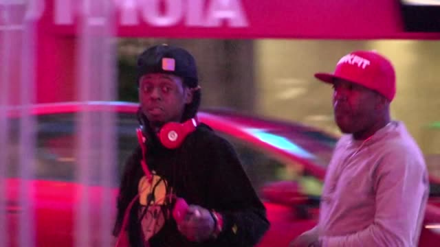 lil wayne arrives at staples center in los angeles 05/01/12 lil wayne arrives at staples center in los angeles on may 01 2012 in los angeles... - staples center stock videos and b-roll footage