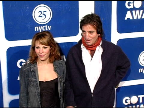 lili taylor and guest at the ifp's 15th annual gotham awards arrivals at pier 60 at chelsea piers in new york, new york on november 30, 2005. - independent feature project video stock e b–roll