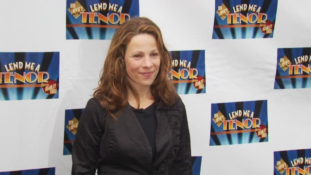 lili taylor at the opening of 'lend me a tenor' arrivals at new york ny - lend me a tenor stock-videos und b-roll-filmmaterial