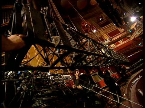 london royal albert hall int auditorium prepared for concert london rachel newsome interview sot calls lilith fair concert tour washed out - royal albert hall stock videos and b-roll footage
