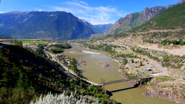 lillooet, formerly cayoosh flat, is a community on the fraser river in british columbia, canada. - plain stock videos & royalty-free footage