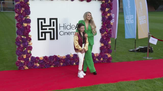"""lilly aspell and tallia storm take a selfie on the red carpet at the """"wonder woman 1984"""" special screening at honourable artillery company on may 20,... - photographing stock videos & royalty-free footage"""