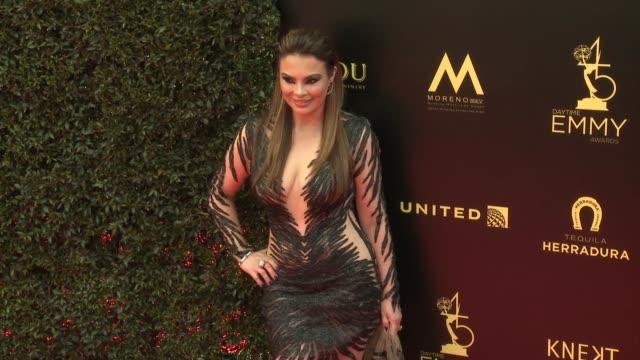 Lilly Melgar at the 2018 Daytime Emmy Awards at Pasadena Civic Auditorium on April 29 2018 in Pasadena California