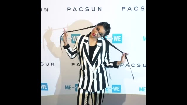 lilly singh at the party with a purpose the official preparty to we day california - zöpfchenfrisur stock-videos und b-roll-filmmaterial