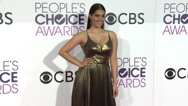 lilly singh at the people's choice awards 2017 at microsoft theater on january 18, 2017 in los angeles, california. - people's choice awards stock videos & royalty-free footage
