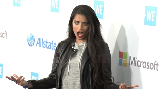 lilly singh at we day california at the forum on april 07 2016 in inglewood california - inglewood stock videos and b-roll footage