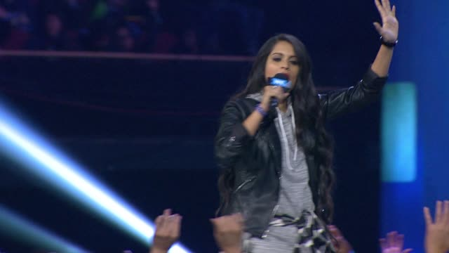 speech lilly singh at we day california at the forum on april 07 2016 in inglewood california - inglewood stock videos and b-roll footage
