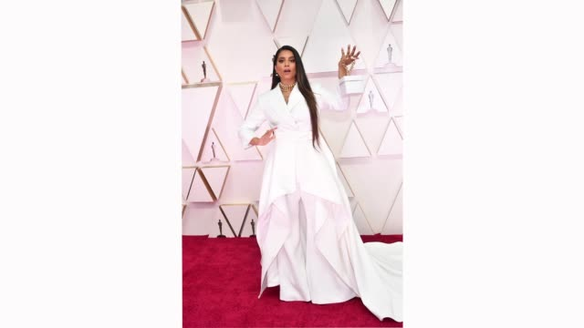 lilly singh attends the 92nd annual academy awards at hollywood and highland on february 09 2020 in hollywood california - academy awards stock videos & royalty-free footage