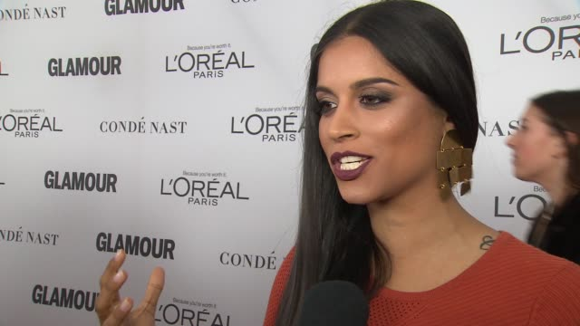 INTERVIEW Lilly Singh on what makes a feminist at Glamour's 2017 Women Of The Year on November 13 2017 in New York City