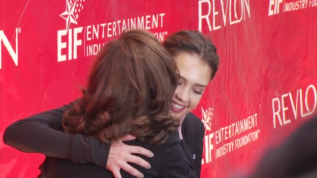 lilly tartikoff and jessica alba at the 13th annual eif revlon run/walk for women at new york ny - revlon stock videos and b-roll footage