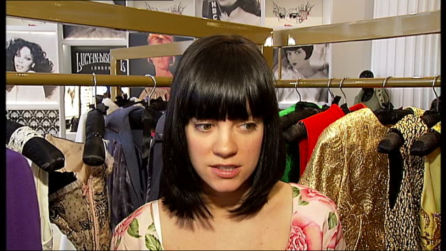 lily allen opens temporary shop in selfridges: interview; england: london: oxford street: selfridges: int lily allen and her half-sister sarah owen... - lily family stock videos & royalty-free footage