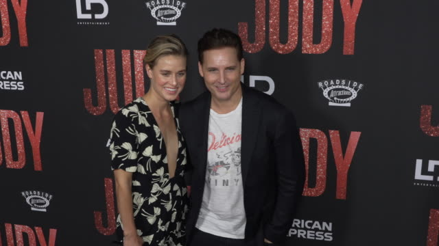 """lily anne harrison and peter facinelli at the los angeles premiere of """"judy"""" at samuel goldwyn theater on september 19, 2019 in beverly hills,... - peter facinelli video stock e b–roll"""