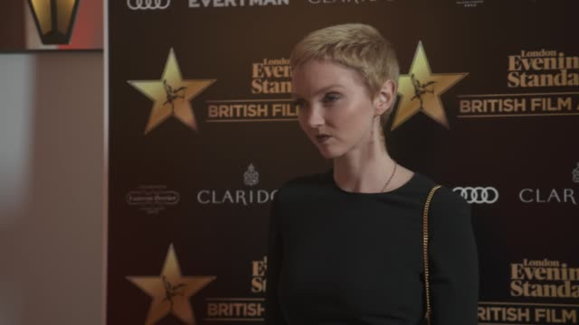 lily cole at evening standard british film awards at claridge's hotel on february 8, 2018 in london, england. - 映画賞点の映像素材/bロール