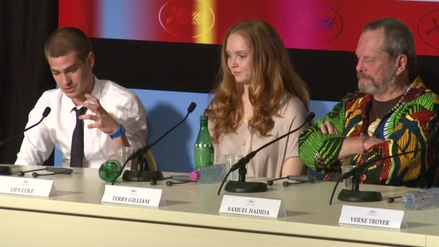 lily cole remembering heath ledger and finishing the film at the cannes film festival 2009 the imaginarium of dr parnassus press conference at cannes - 62 ° festival internazionale del cinema di cannes video stock e b–roll