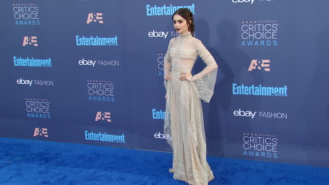 Lily Collins at 22nd Annual Critics' Choice Awards in Los Angeles CA
