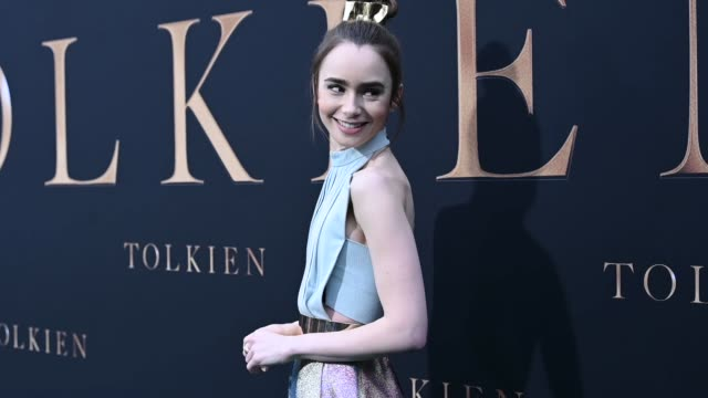 lily collins at the la special screening of fox searchlight pictures' tolkien alternative views at regency village theatre on may 08 2019 in westwood... - regency village theater stock videos and b-roll footage