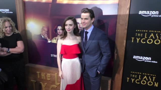 Lily Collins Matt Bomer at the Amazon Original Series 'The Last Tycoon' Premiere at the Harmony Gold Preview House and Theater on July 27 2017 in...