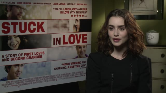 lily collins on her co-stars becoming close knit family during filming at interview - lily collins on her co-stars becoming on june 03, 2013 in... - lily family stock videos & royalty-free footage
