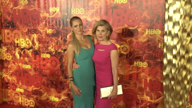 Lily Cowles and Christine Baranski at the 2015 HBO Emmy After Party at The Plaza at the Pacific Design Center on September 20 2015 in Los Angeles...